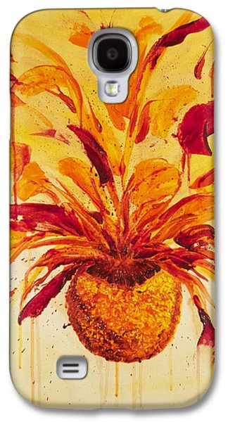 Blood Orange Ginger Galaxy S4 Case by Phoenix The Moody Artist