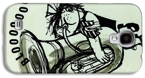 Trombone Galaxy S4 Case - Blooooob! Ink On Paper by Brenda Brin Booker