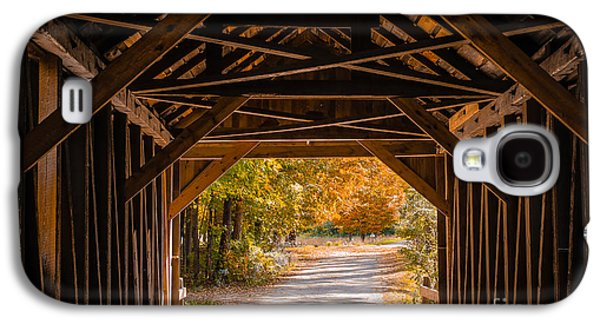 Blow-me-down Covered Bridge Cornish New Hampshire Galaxy S4 Case by Edward Fielding
