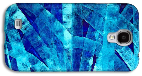 Blue Abstract Art - Paths - By Sharon Cummings Galaxy S4 Case