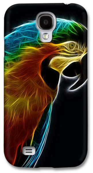 Blue And Gold Macaw Frac Galaxy S4 Case by Bill Barber