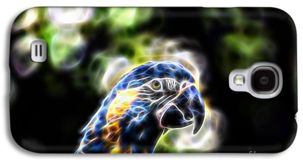 Blue And Gold Macaw V4 Galaxy S4 Case by Douglas Barnard