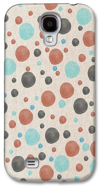 Blue And Orange Dots Galaxy S4 Case