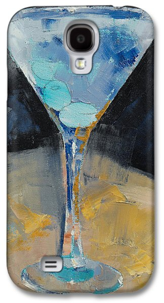 Blue Art Martini Galaxy S4 Case by Michael Creese