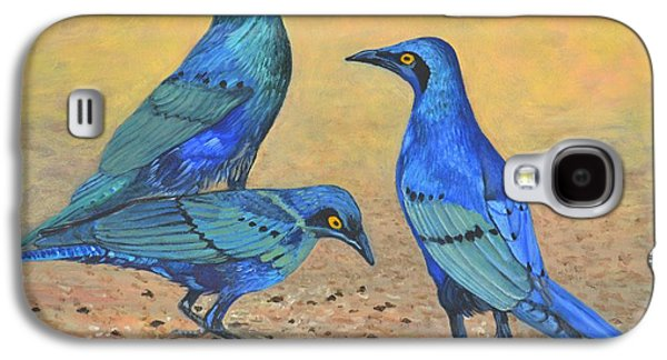 Blue Birds Of Happiness Galaxy S4 Case by Caroline Street
