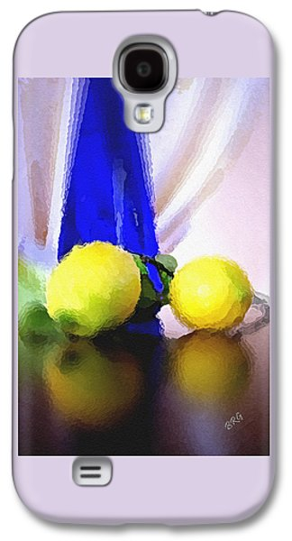 Blue Bottle And Lemons Galaxy S4 Case