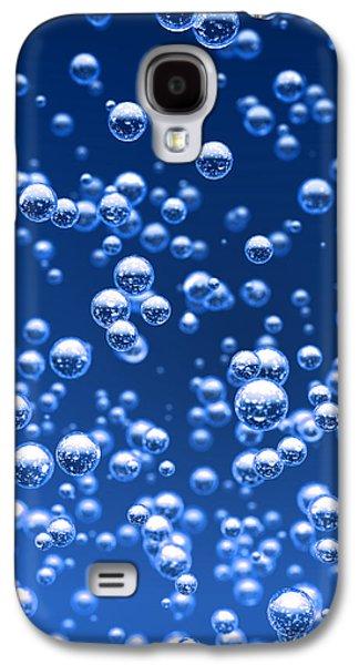 Pop Art Galaxy S4 Case - Blue Bubbles by Bruno Haver