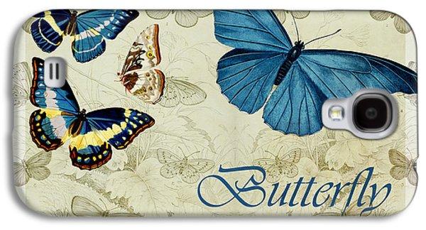 Blue Butterfly - S01a Galaxy S4 Case