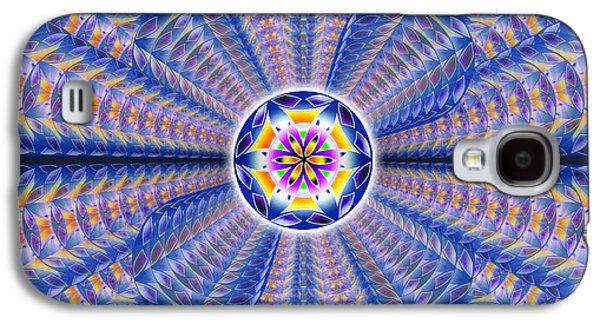 Blue Crystal Consciousness Galaxy S4 Case by Derek Gedney