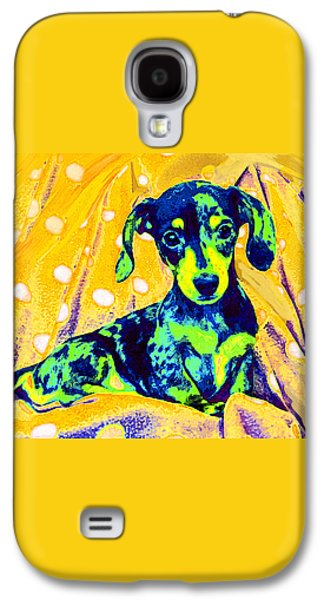 Blue Doxie Galaxy S4 Case by Jane Schnetlage