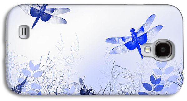 Blue Dragonfly Art Galaxy S4 Case by Christina Rollo