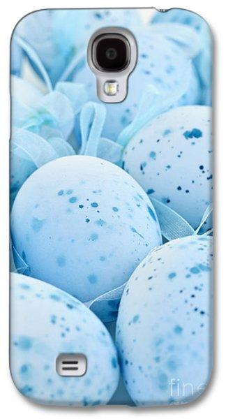 Blue Easter Eggs Galaxy S4 Case by Elena Elisseeva