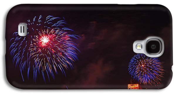 Blue Fireworks Over Domino Sugar Galaxy S4 Case