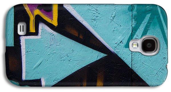 Blue Graffiti Arrow Square Galaxy S4 Case