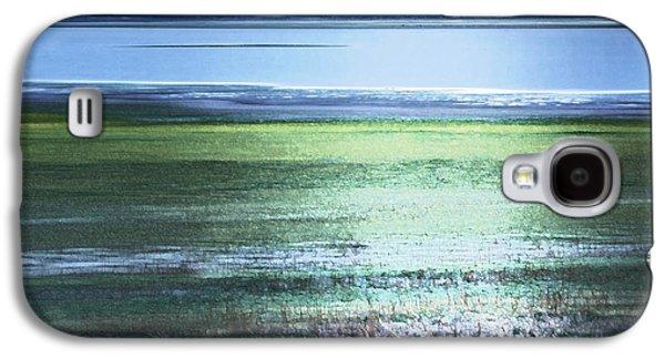 Blue Green Landscape Galaxy S4 Case