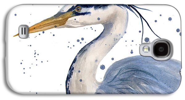 Blue Heron Painting Galaxy S4 Case
