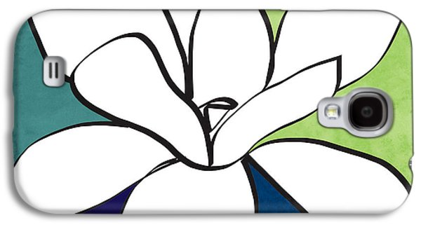 Blue Magnolia 1- Floral Art Galaxy S4 Case by Linda Woods