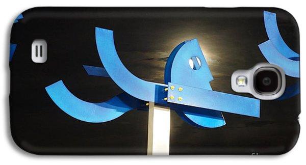Blue Man Moon Galaxy S4 Case by Lynda Dawson-Youngclaus
