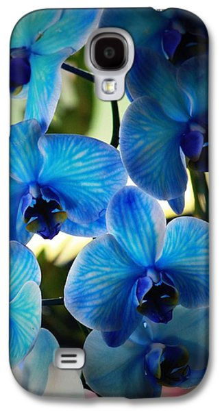 Orchid Galaxy S4 Case - Blue Monday by Mandy Shupp