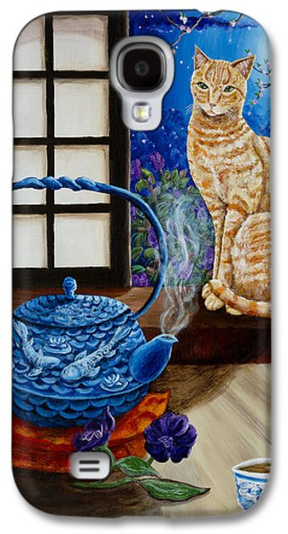 Blue Moon Tea Galaxy S4 Case by Laura Iverson