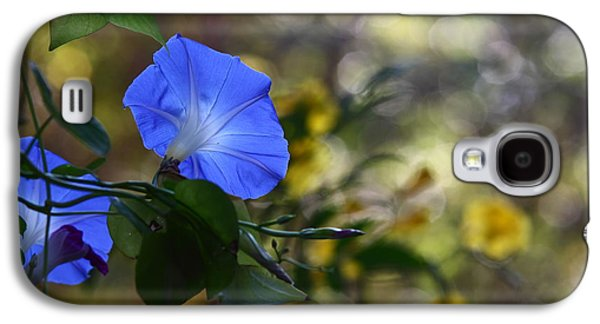Blue Morning Glories Galaxy S4 Case by Linda Unger
