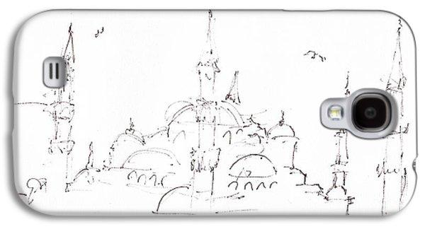 Blue Mosque Galaxy S4 Case by Valerie Freeman