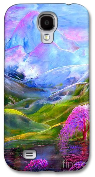 Orchid Galaxy S4 Case - Blue Mountain Pool by Jane Small
