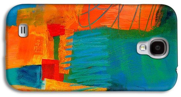 Blue Orange 2 Galaxy S4 Case by Jane Davies
