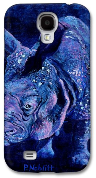 Indian Rhino - Blue Galaxy S4 Case