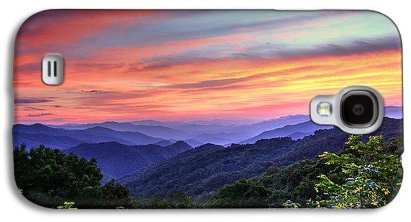 Blue Ridge Mountain Color Galaxy S4 Case
