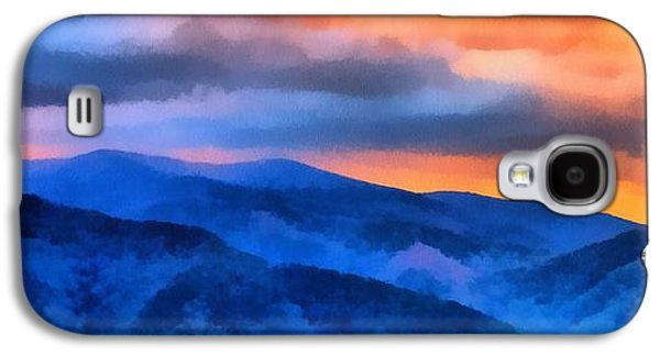 Blue Ridge Mountains Sunrise Galaxy S4 Case