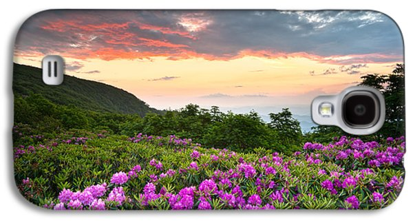 Blue Ridge Parkway Sunset - Craggy Gardens Rhododendron Bloom Galaxy S4 Case