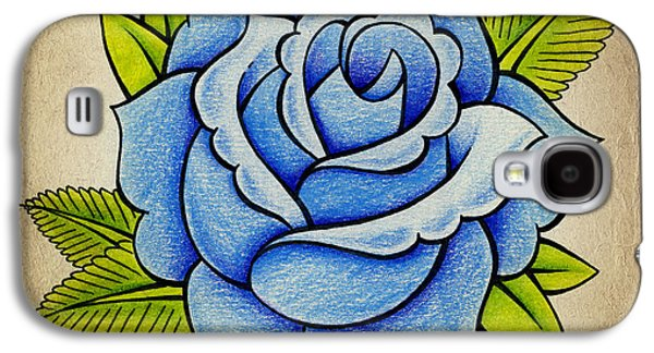 Blue Rose Galaxy S4 Case by Samuel Whitton