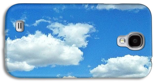Sunny Galaxy S4 Case - Blue Sky And White Clouds by Anna Porter