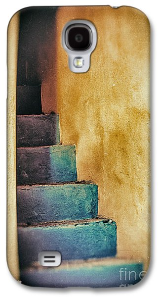 Blue Stairs - Yellow Wall    Galaxy S4 Case by Silvia Ganora
