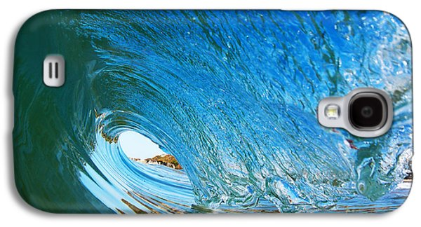 Blue Wave Curl Galaxy S4 Case by Paul Topp