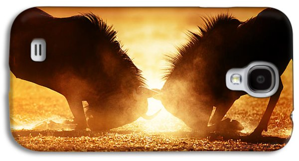 Blue Wildebeest Dual In Dust Galaxy S4 Case by Johan Swanepoel