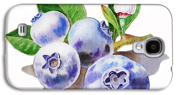 Artz Vitamins The Blueberries Galaxy S4 Case by Irina Sztukowski