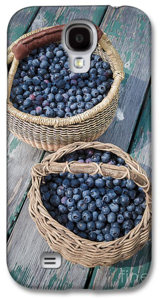 Blueberry Baskets Galaxy S4 Case by Edward Fielding