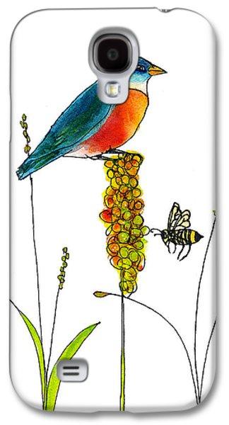 Bluebird And Bee Galaxy S4 Case by Blenda Studio