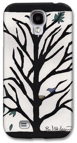 Bluebird In A Pear Tree Galaxy S4 Case by Barbara St Jean