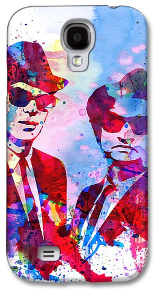 Blues Watercolor Galaxy S4 Case by Naxart Studio