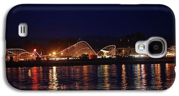 Santa Cruz Boardwalk At Night Galaxy S4 Case by Debra Thompson