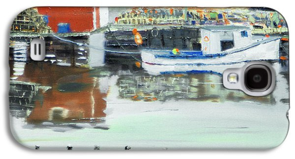 Boat At Louisburg Ns Galaxy S4 Case by Michael Daniels