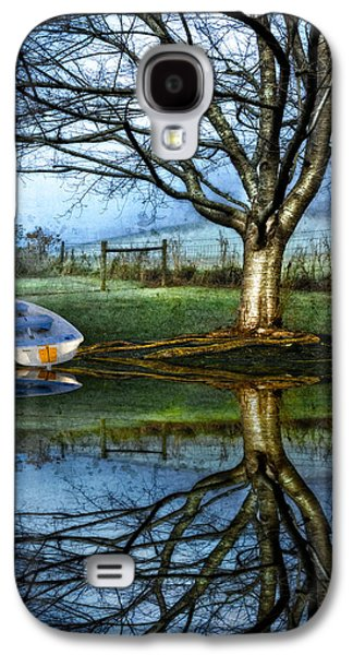 Boat On The Lake Galaxy S4 Case by Debra and Dave Vanderlaan