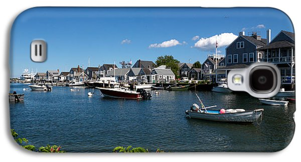 Boats At A Harbor, Nantucket Galaxy S4 Case by Panoramic Images