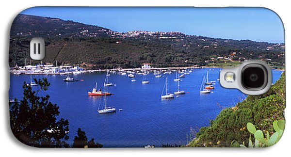 Boats At A Harbor, Porto Azzurro Galaxy S4 Case by Panoramic Images