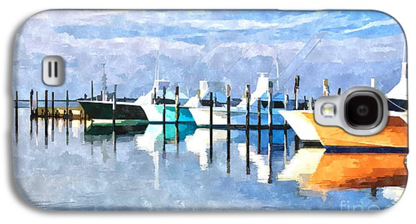 Boats At Oregon Inlet Outer Banks IIi Galaxy S4 Case by Dan Carmichael