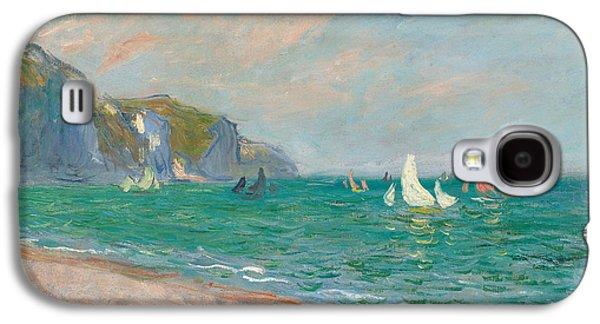 Boats Below The Pourville Cliffs Galaxy S4 Case