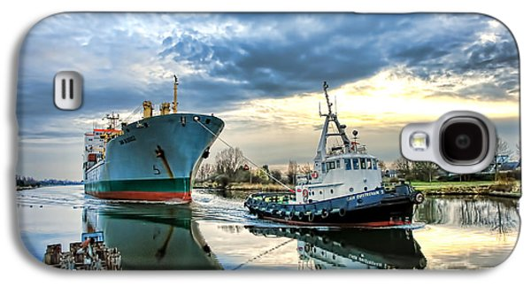 Boats On A Canal Galaxy S4 Case by Olivier Le Queinec